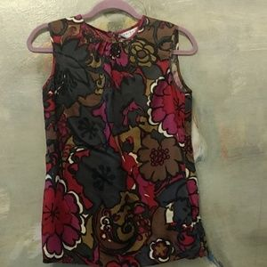 Trina Turk silk gem colored blouse